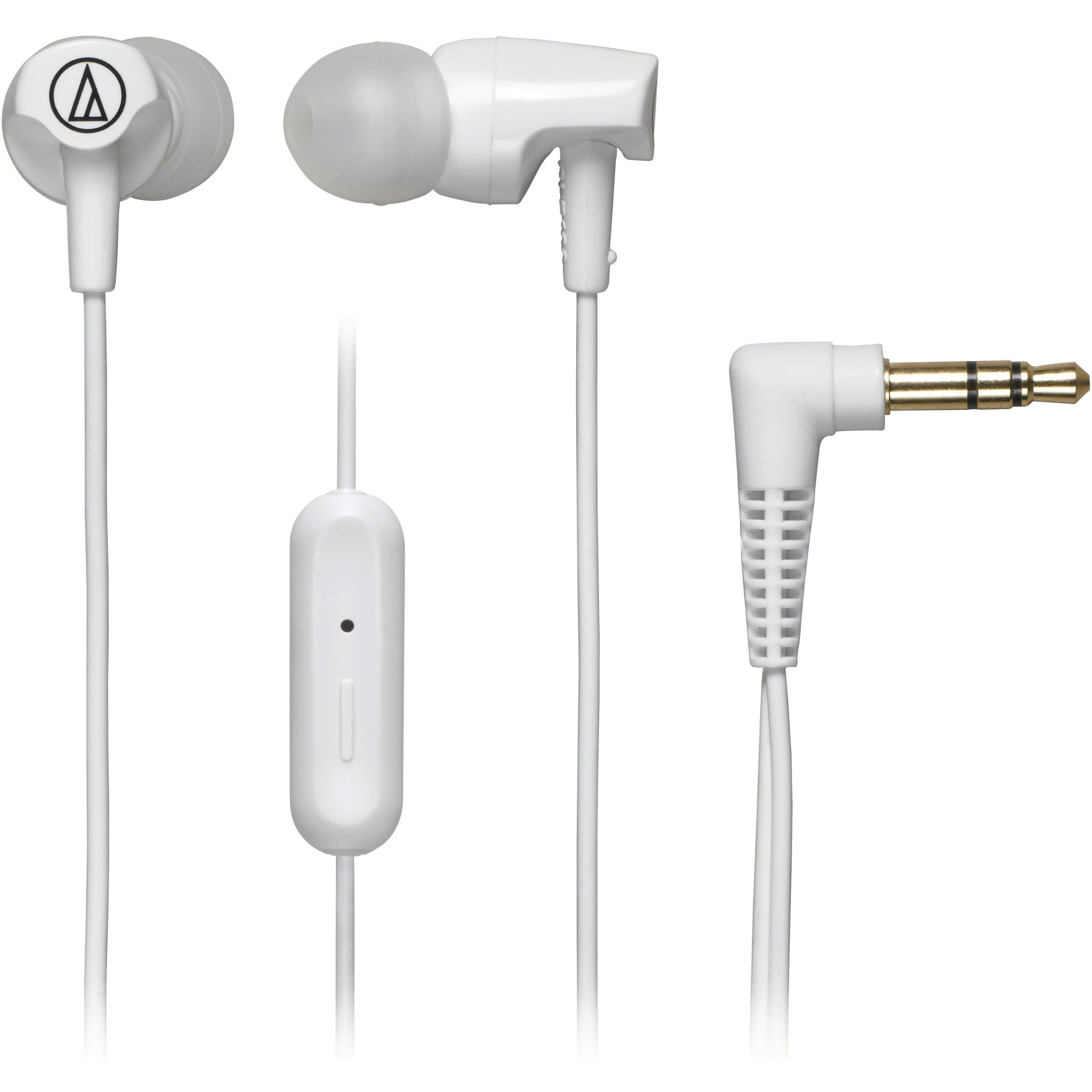 Audio-Technica SonicFuel In-ear Headphones with In-line Mic & Control, White #audioheadphones