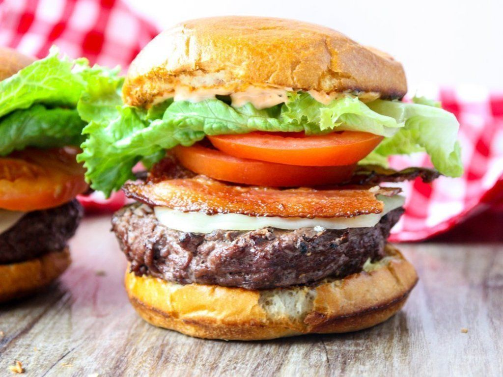 Grilled Chipotle BLT Cheeseburgers Recipe (With images