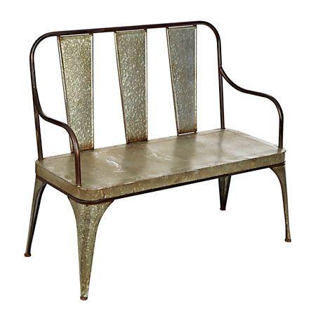 Strange Galvanized Metal Outdoor Bench Metal Outdoor Bench Machost Co Dining Chair Design Ideas Machostcouk