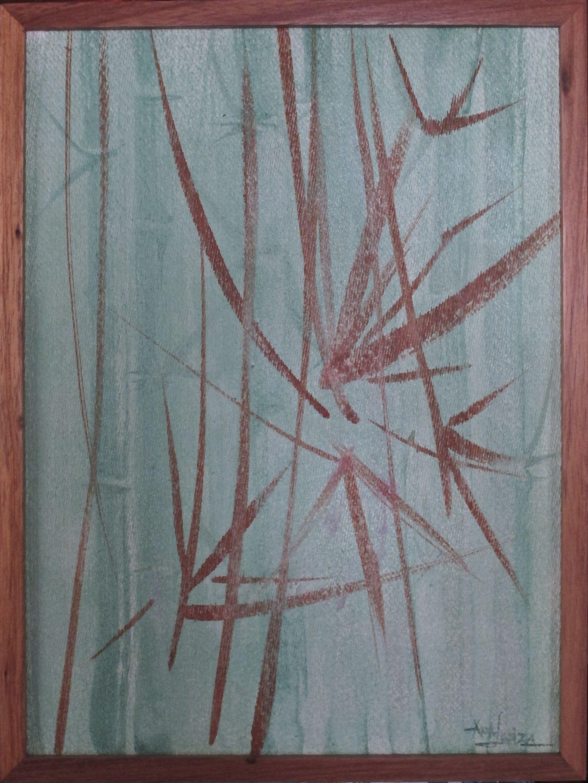 BAMBUS II  Coleção: Heranças  Técnica: Aquarela s/ eucatex   medidas: 0.40m x 0.30m  www.tribodasartes.com