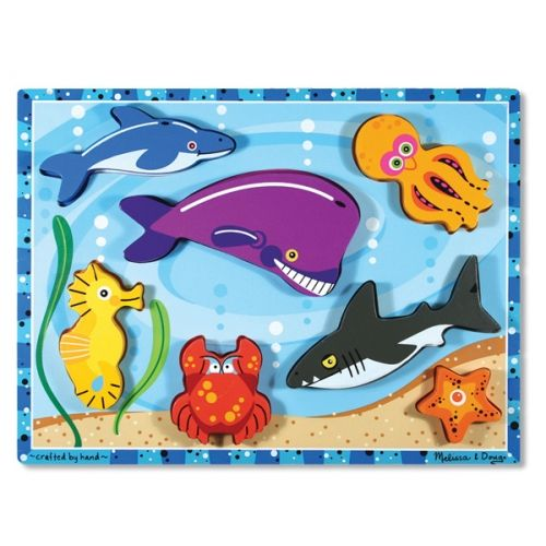 Sea Creatures Chunky Puzzle Wooden Puzzles Puzzles For Kids Sea Creatures