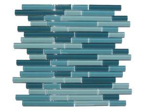 aqua backsplash   glass mosaic tiles, mosaic glass