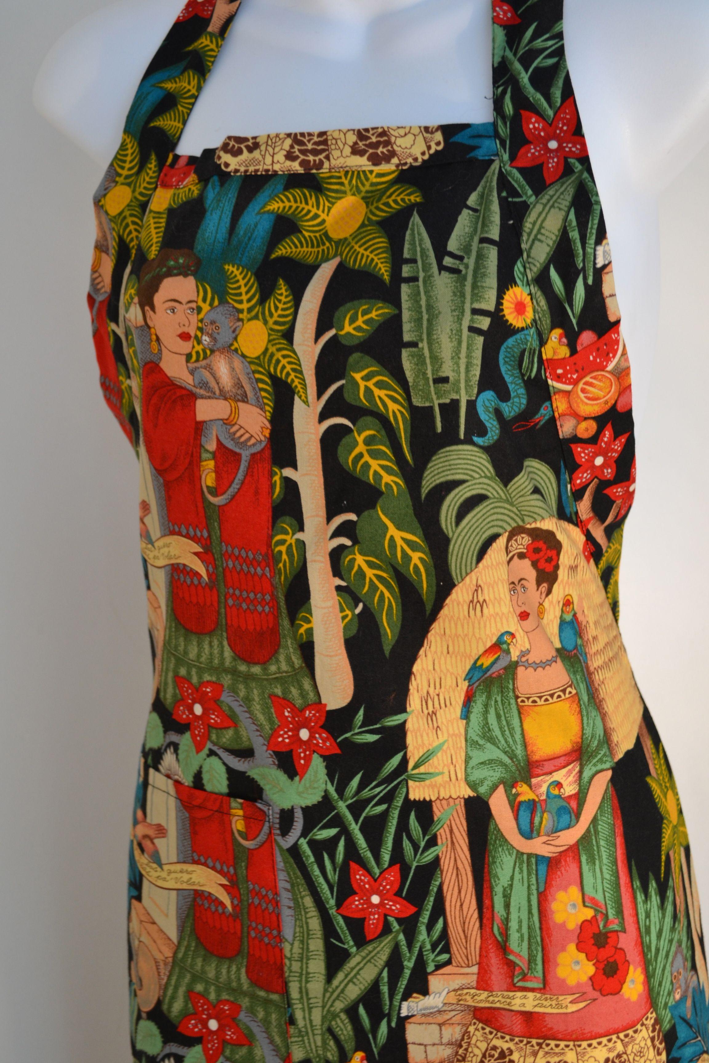White half apron australia - The Amazing Frida Kahlo Garden Apron Handmade In Mexico Ah Fabric