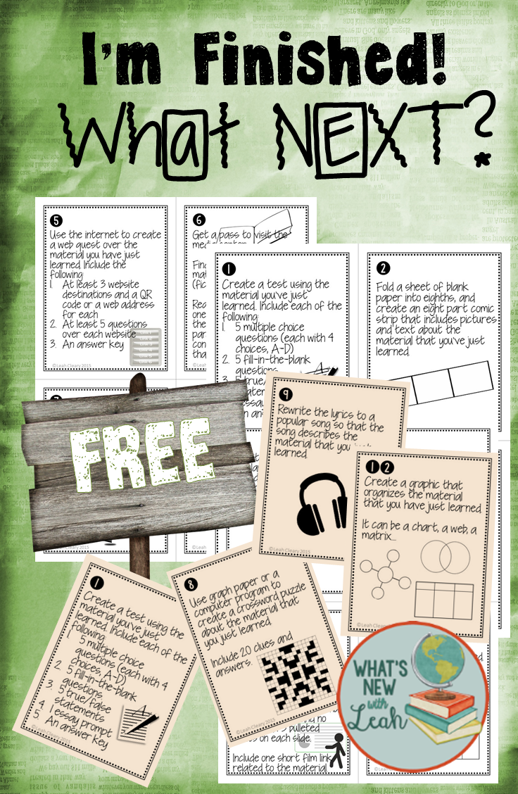Classroom Enrichment Ideas ~ These activities keep students busy but they are not