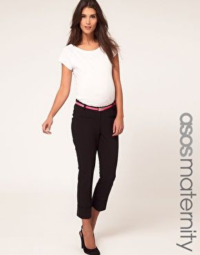 Asos Maternity Exclusive Trouser With Belt