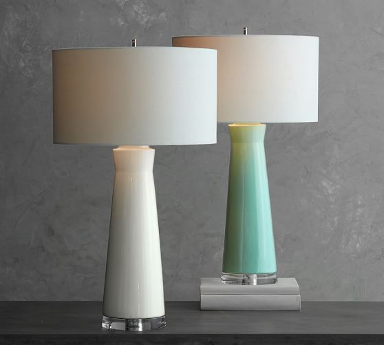 Cerena Ceramic Column Table Lamps Table Lamp Table Lamps Living