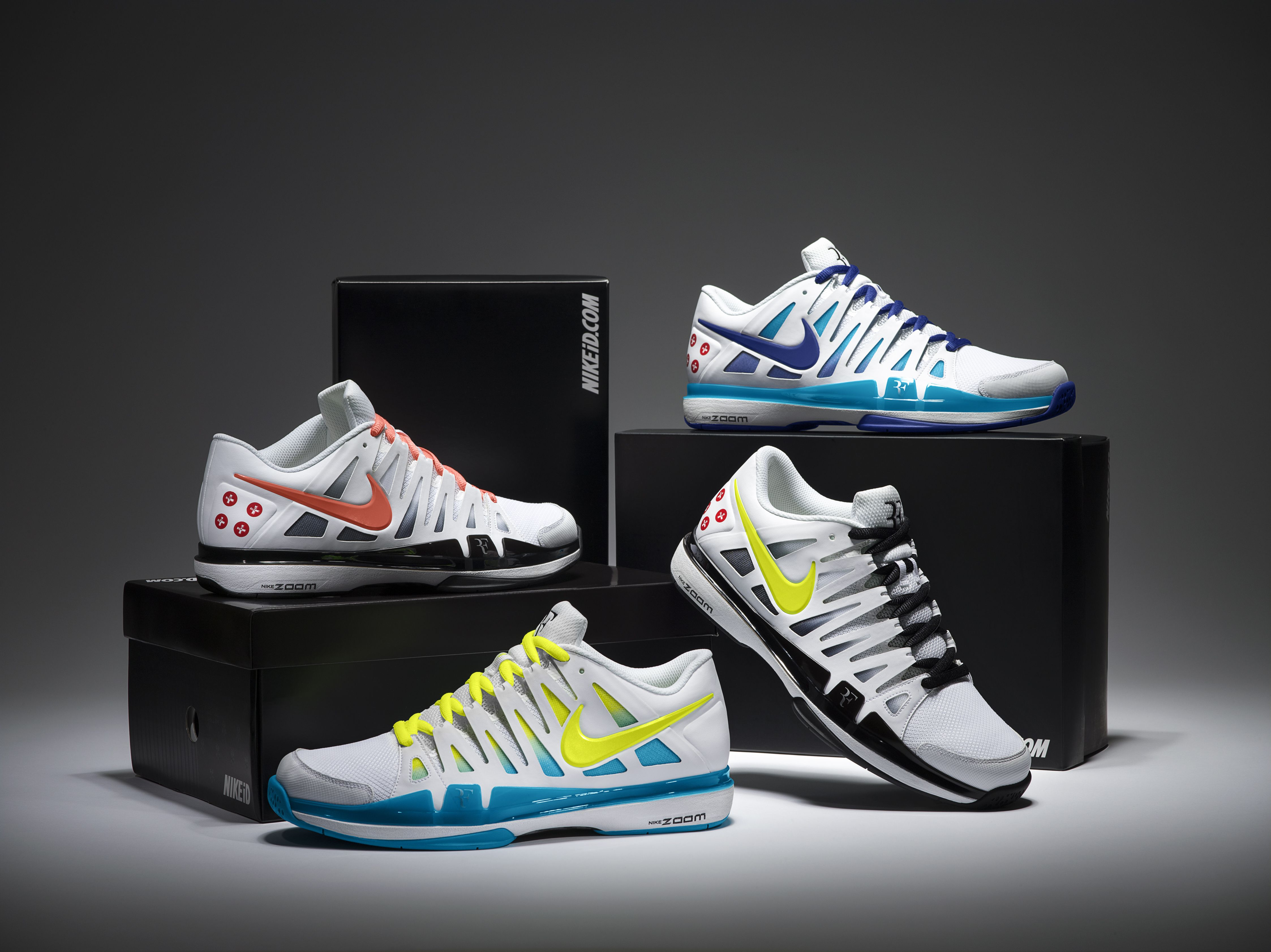 Nike Zoom Vapor 9 Tour. Roger Federer invites fans to choose Grand Slam  shoes -