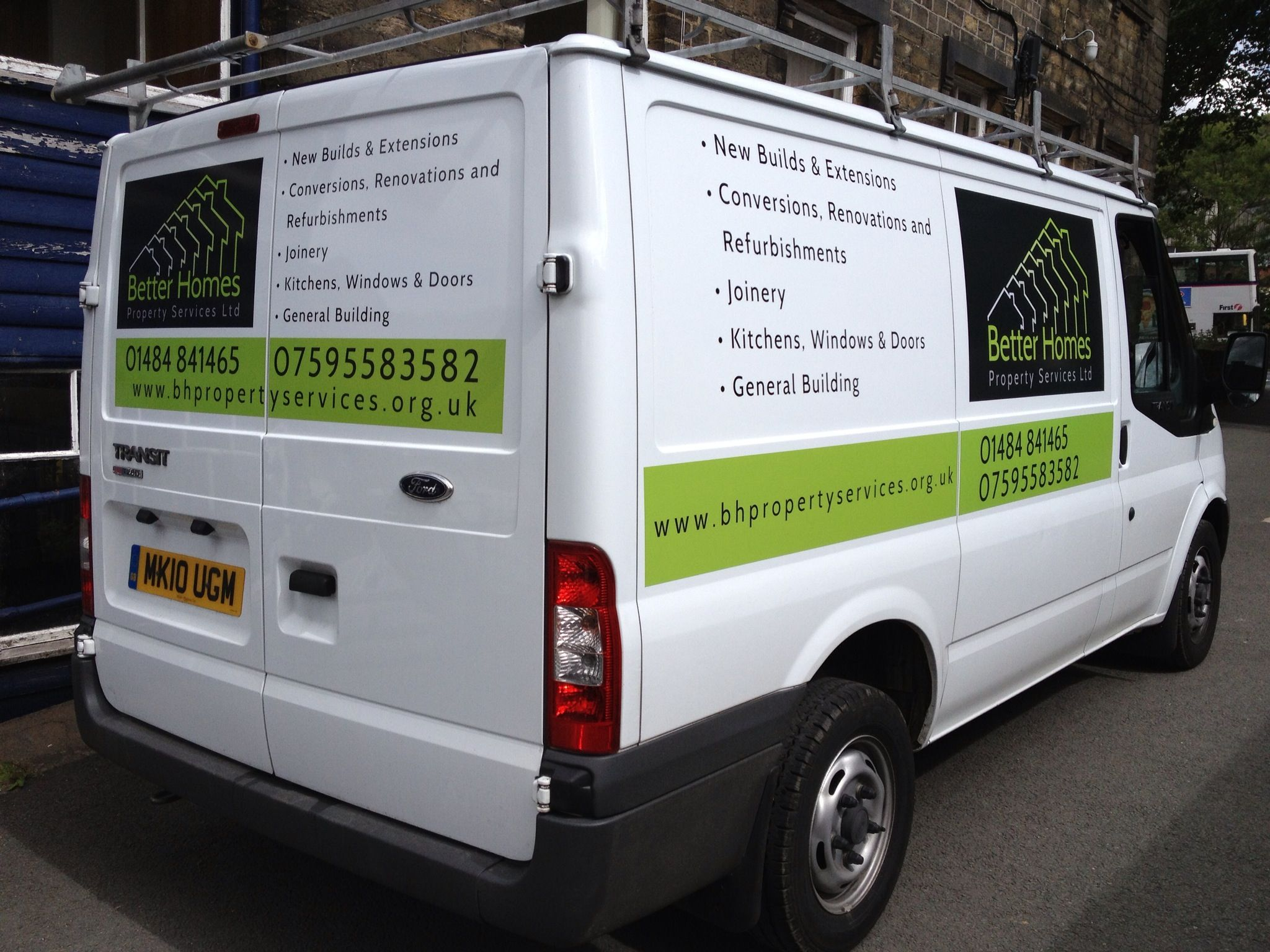 Full Transit Vehicle Graphics With Both Cut Vinyl Letters And Full - Full color vinyl stickers
