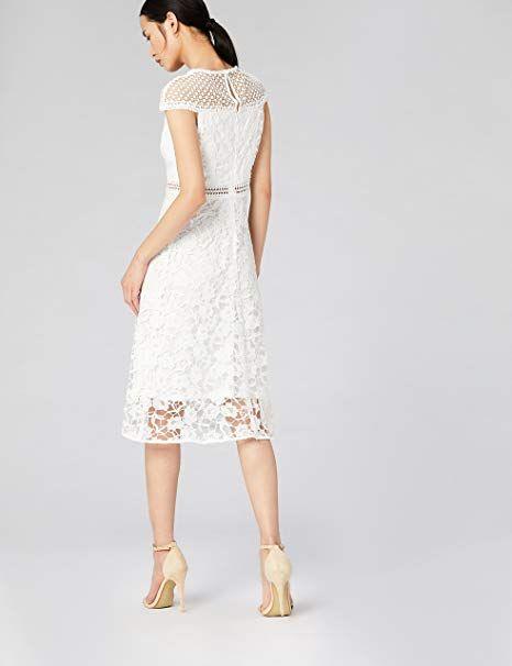 TRUTH & FABLE Kleid Damen mit Spitze: Amazon.de ...
