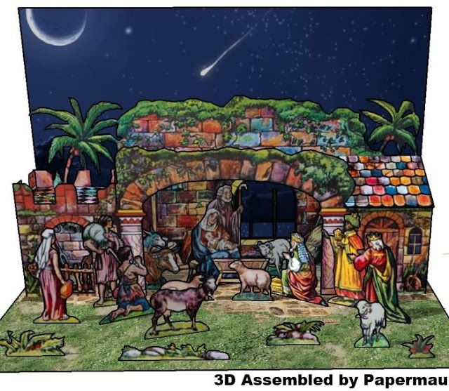 When Assembling The 3D Version Of This Vintage Nativity