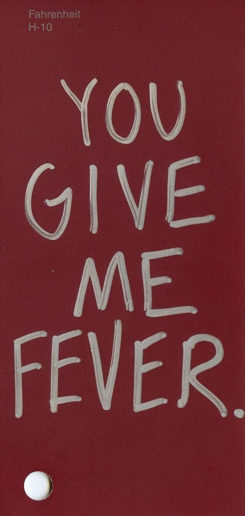 """Farenheit, H-10 Lyric from """"Fever"""" by Peggy Lee #ColorsOfLove"""