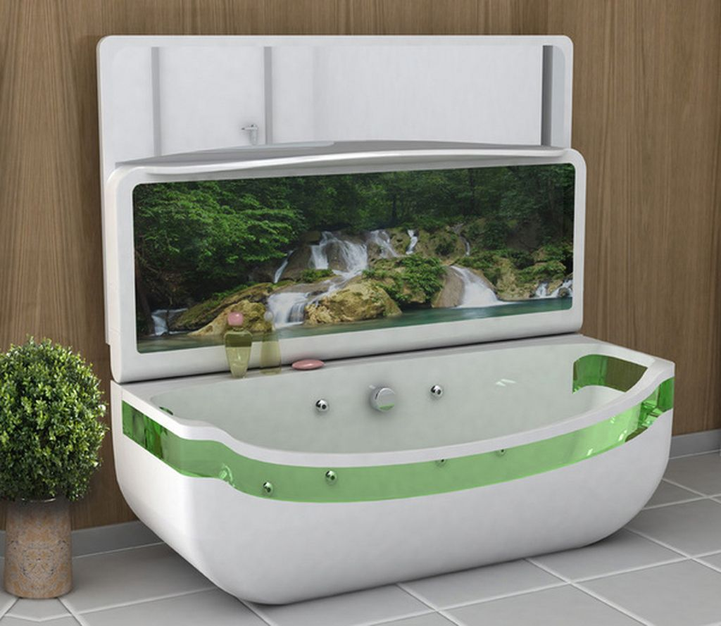 small tv for bathroom. Luxury Soaking Tubs | Bath Features With OLED TV Screen From Raised Hand Washing Small Tv For Bathroom