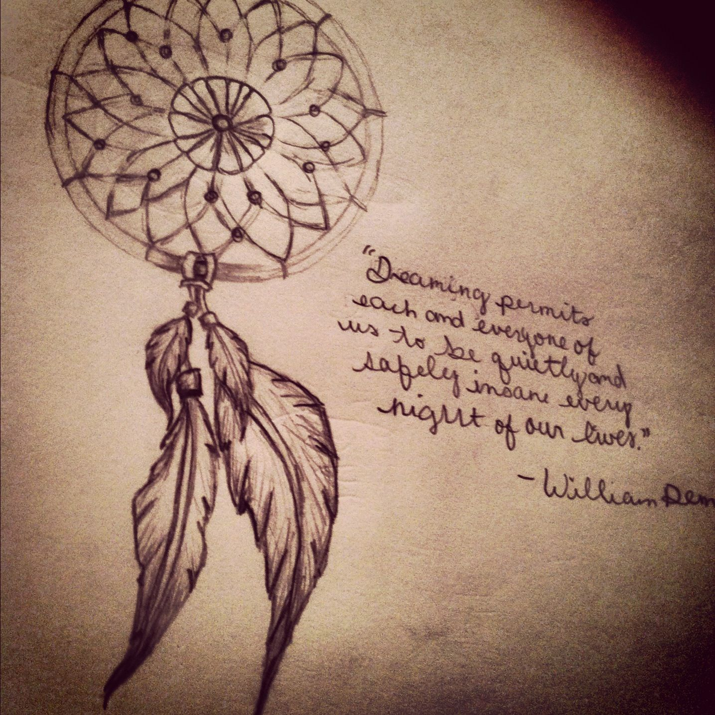 Tattoo Quotes Dreams: Dream Catcher Tattoo . Love The Words Too! But Id Have My