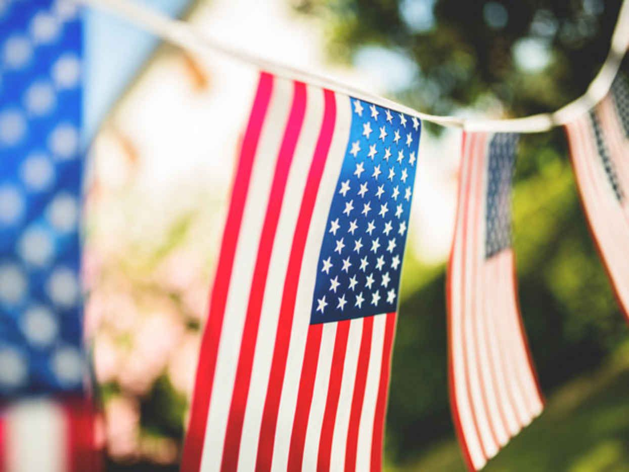 flag pennant banner decor that you can use on your memorial day bbq