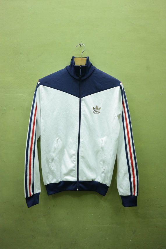 12856d08e0fa Vintage Adidas Nastase Tennis Sweater Training Jacket Fully Zipper ...