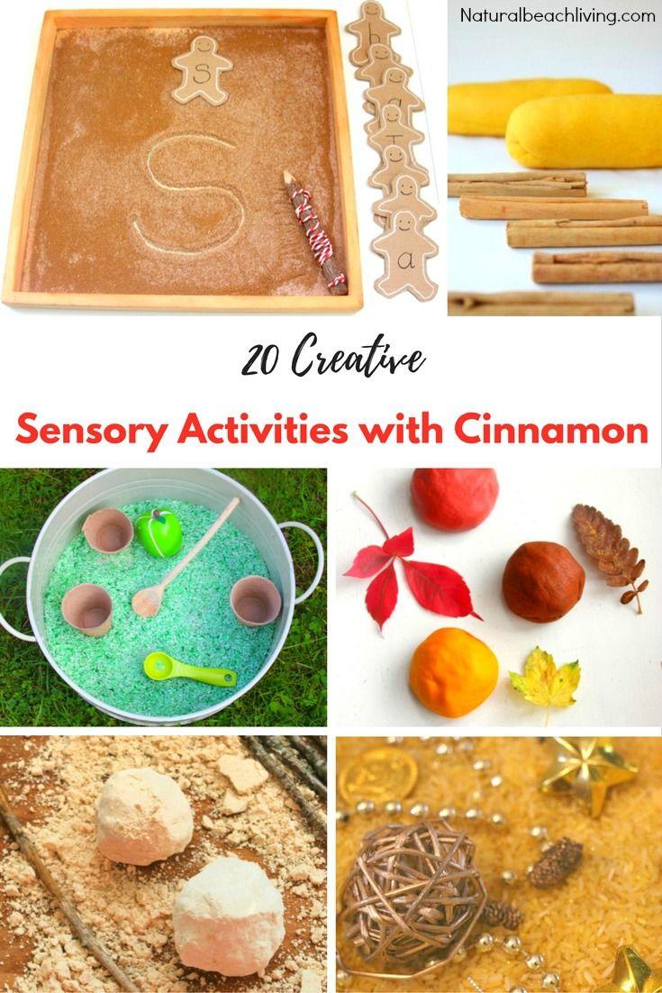 20 Super Creative Sensory Activities With Cinnamon Sensory Activities Sensory Play Recipes