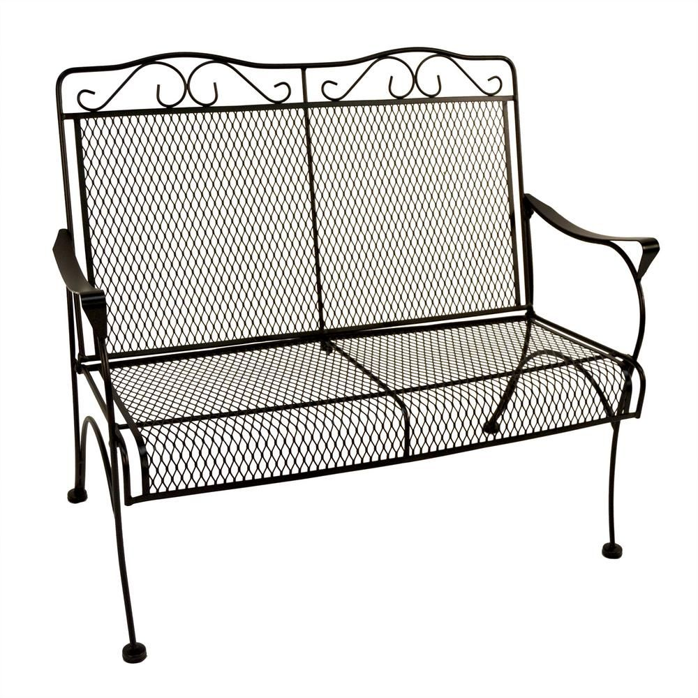 Hampton Bay Nantucket Metal Outdoor Bench