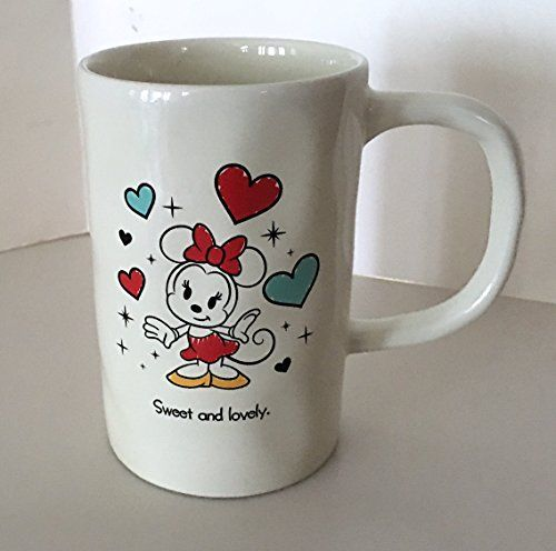 Disney Parks Minnie Mouse Sweet And Lovely Ceramic Mug Th..