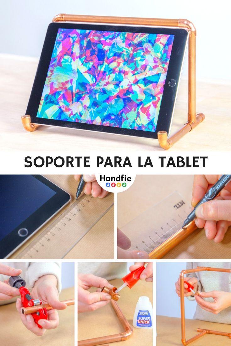 Soporte para la tablet crea un soporte personalizado y a for Soporte tablet pared