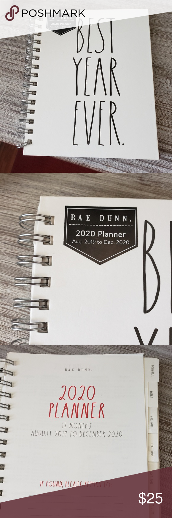 Rae Dunn BEST YEAR EVER Planner Agenda Calendar NWT (With