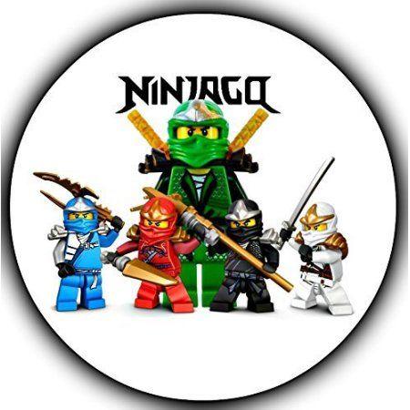 Ninjago Logo Kai Zane Cole Jay Lloyd Edible Cake Topper Image 8 In Round Abpid06254 Walmart Com In 2020 Ninjago Birthday Ninjago Birthday Party Lego Ninjago Birthday