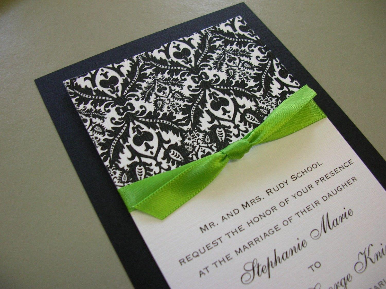 Lime Green Black White Heidi Damasks Wedding Monicamarmolfo Images