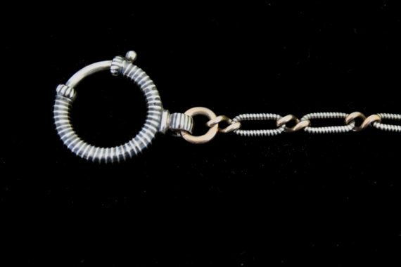 Lovely Antique Niello Watch Chain-Silver by MoonsCuriousItems