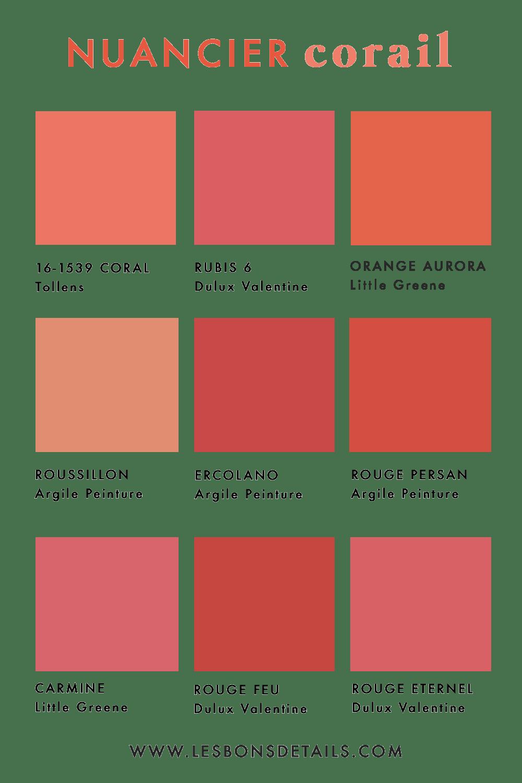 Pantone Corail Etendues Gamme Recherche Google Coral Colour Palette Pantone Red Live Coral