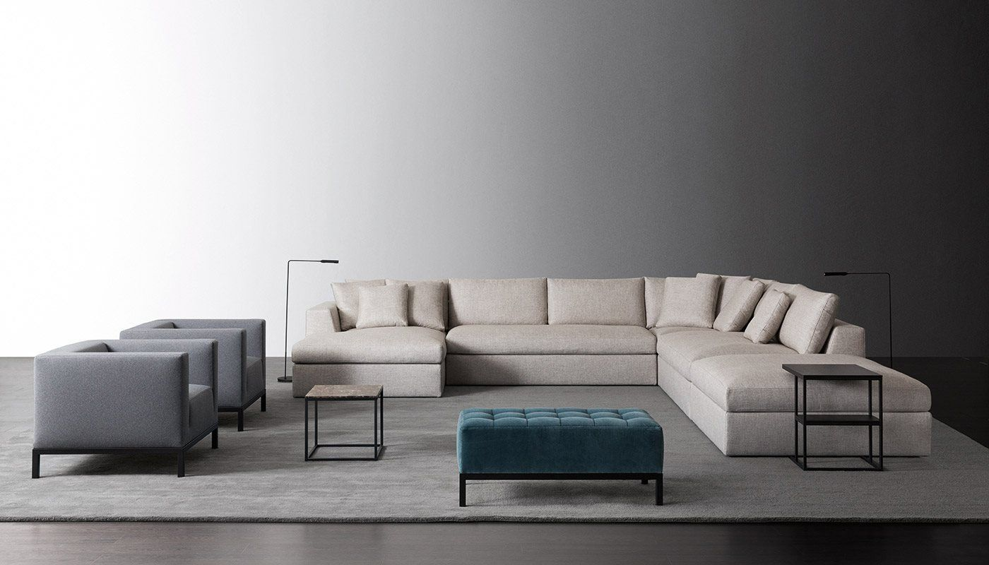 Sofa Design Srl.Louis Small Modular Sofas Meridiani Srl The Living