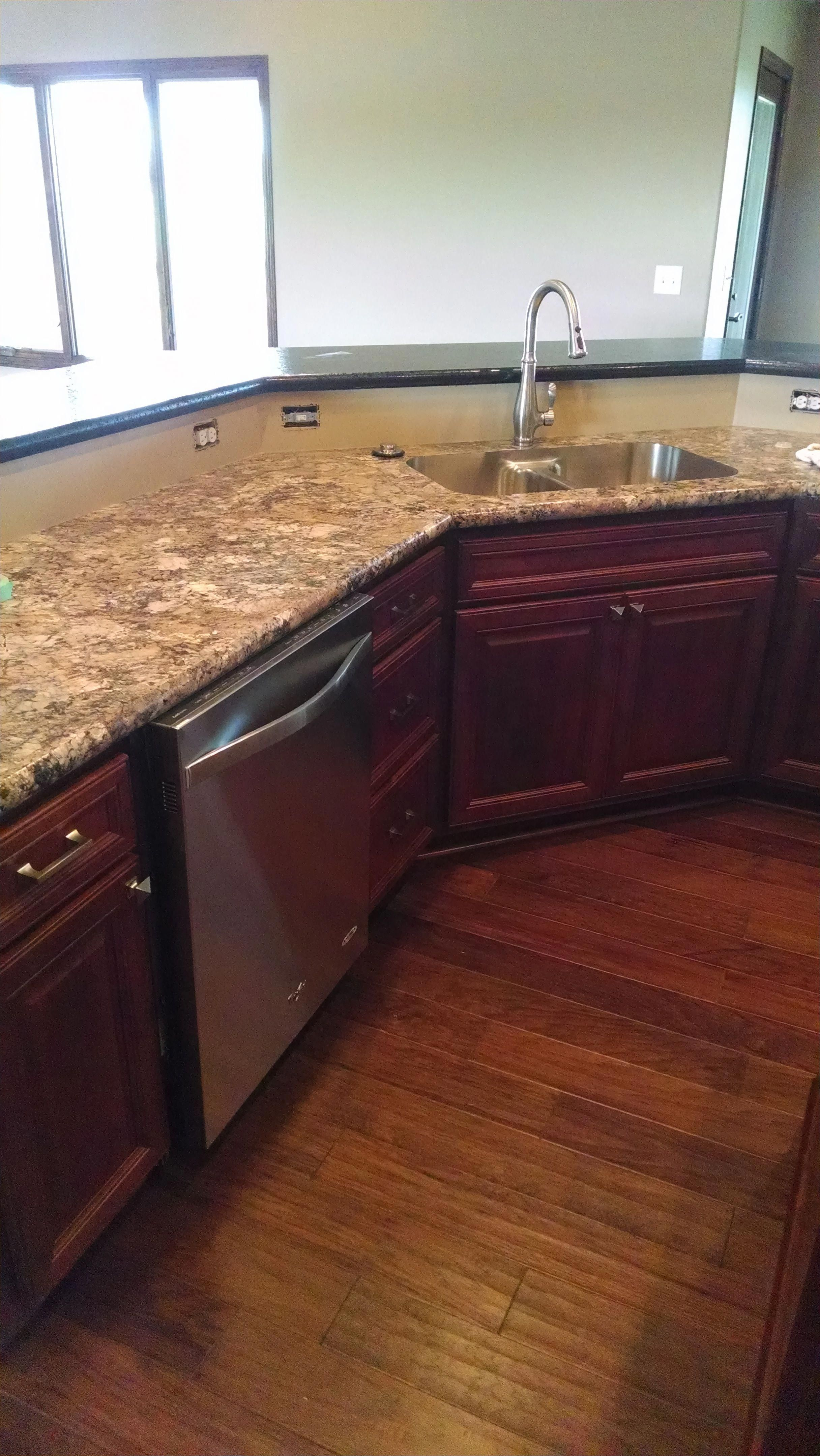 Birch Cabinets With Brandy Stain Wilsonart Winter Carnival Laminate With Karran Stainles Laminate Countertops Kitchen Countertops Kitchen Countertops Pictures