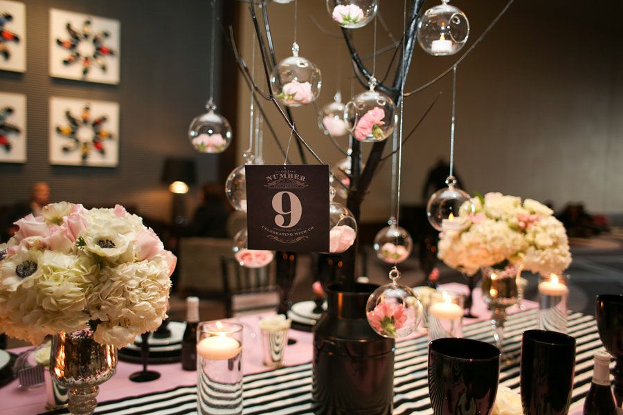 Wedding Reception Table Design Ideas Nashville Paris Black White Decadent Details