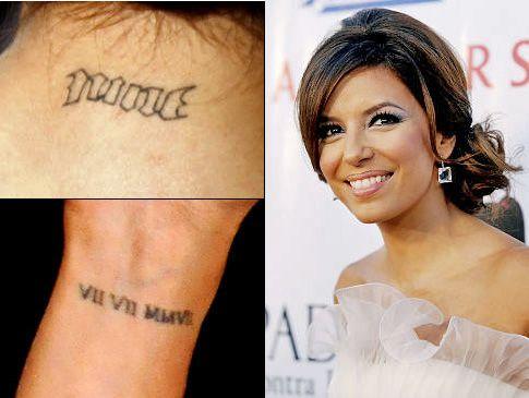 Roman Numeral Tattoo Celebrity Tattoos No Regrets Tattoo Tattoos