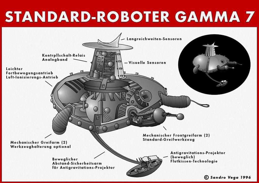 Raumpatrouille Orion Standard Roboter Gamma 7 Originalillustration Der U A Im Risszeichnungsjournal Rzj In De Raumpatrouille Orion Science Fiction Fiktion