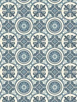 Revetement Pvc Largeur 3m Retro Chic Carrelage Ciment Bleu