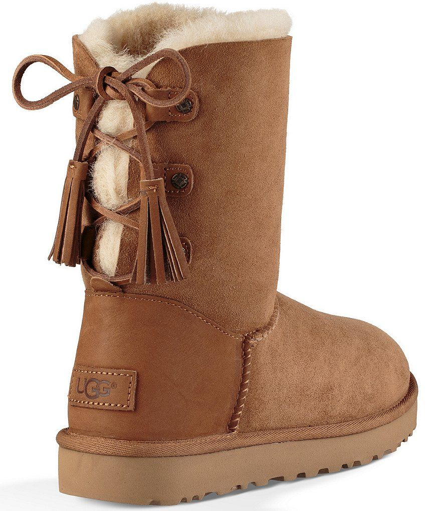 8ce39ee3355 Chestnut:UGG® Kristabelle Rear Lace Tasseled Pull-On Boots | Baby ...