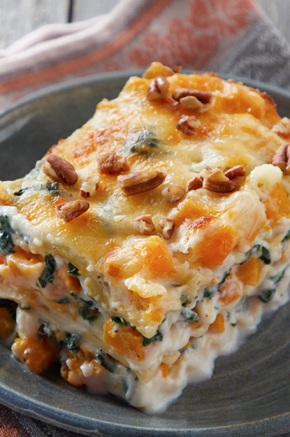 Cheesy Butternut Squash Lasagna Daisy Brand Sour Cream Cottage Chees In 2020 Butternut Squash Lasagna Butternut Squash Lasagna Recipe Lasagna With Cottage Cheese