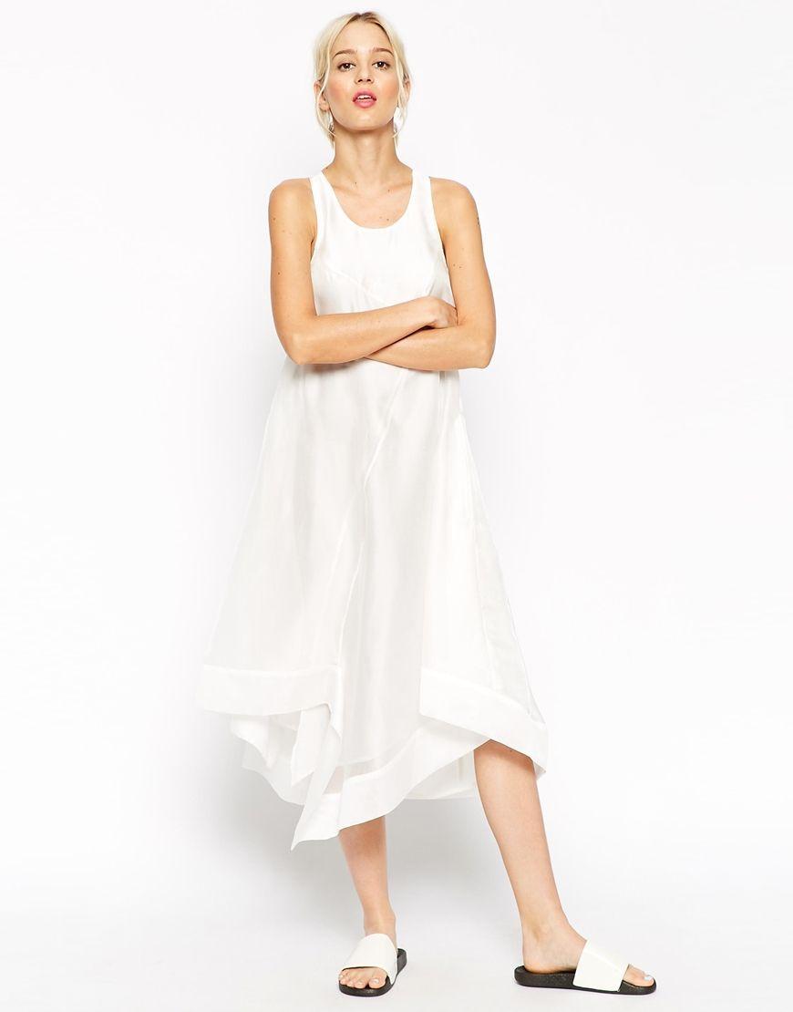 Asos White Technical Trapeze Dress At Asos Com Trapeze Dress Dresses White Dress [ 1110 x 870 Pixel ]