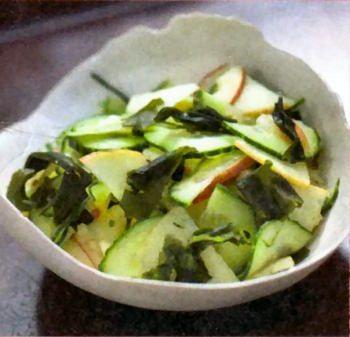 Salade de wakamé, concombre pommes | Recettes de cuisine ...