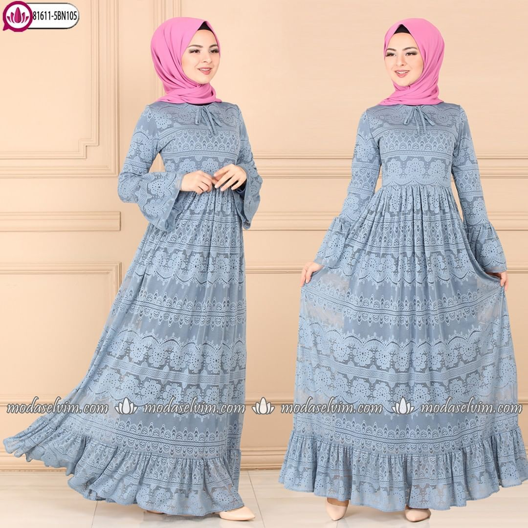 Etegi Firfirli Dantel Elbise 159 90 Tl Siparis Https Www Modaselvim Com Beden Araligi 38 52 Modaselvim Modaselvimelbise Fashion Hijab