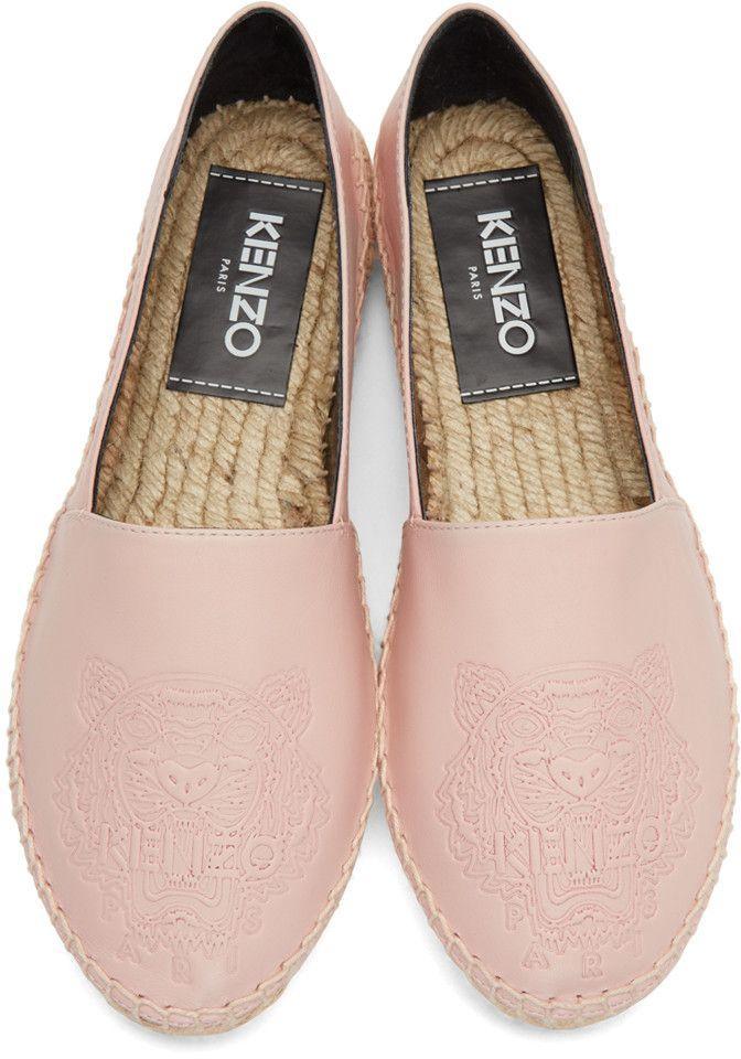 f92fbeb42b Kenzo - Pink Leather Tiger Espadrilles | Designer accesories | Kenzo ...