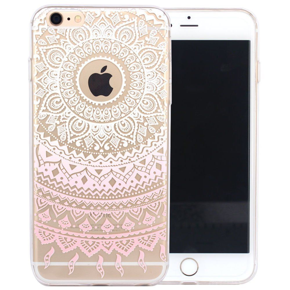 jiaxiufen tpu coque pour apple iphone 6 6s silicone tui housse protecteur henna series apple. Black Bedroom Furniture Sets. Home Design Ideas