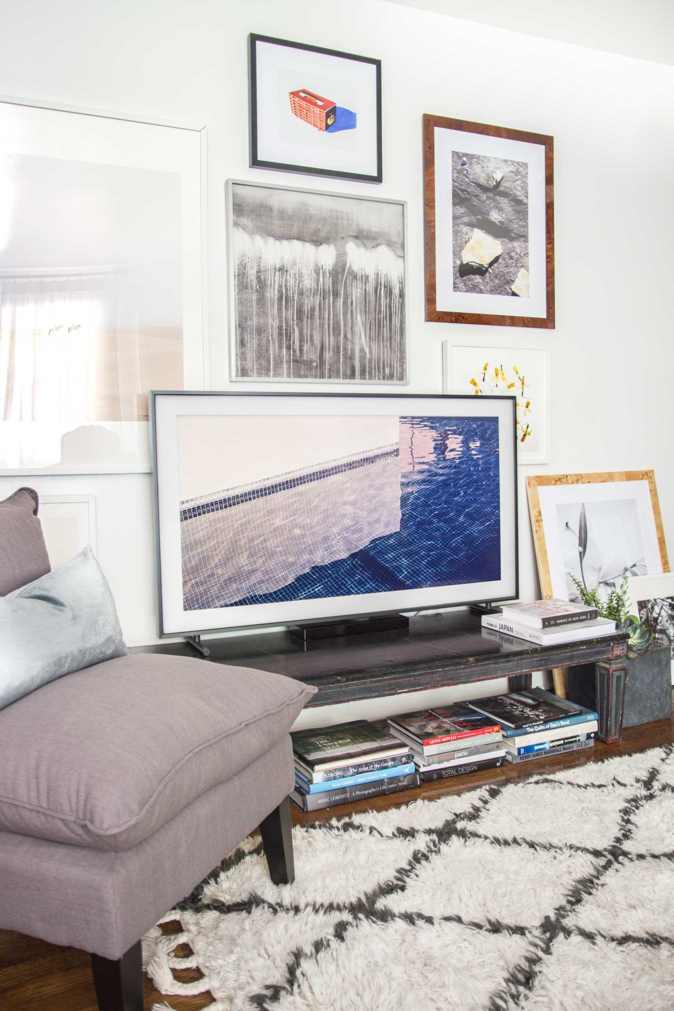 The Frame: A TV for the Living Room | Framed tv, Gallery wall and TVs