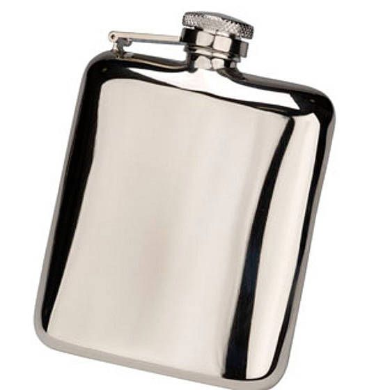 Free Engraved Cushion Hip Flask