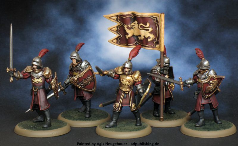 Lannister Guards Miniature Painting A Song Of Ice And Fire