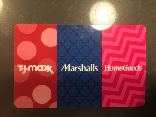 Coupons GiftCards TJ Maxx Marshalls Home Goods Gift Card