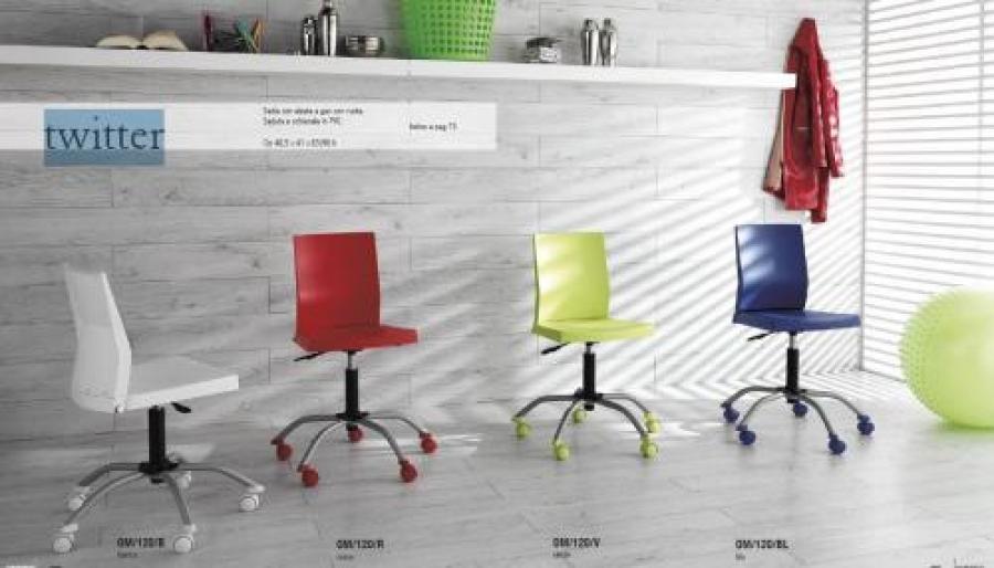 Sedia colori con ruote stones twitter om sedie e sgabelli