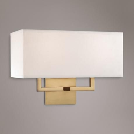 george kovacs rectangle 11 high 2 light gold wall sconce gold