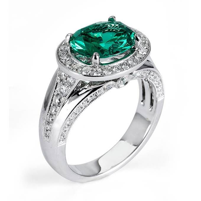 Green Engagement Rings: Get The Look | Engagement Rings | Brides.com | Wedding Engagement | Brides.com