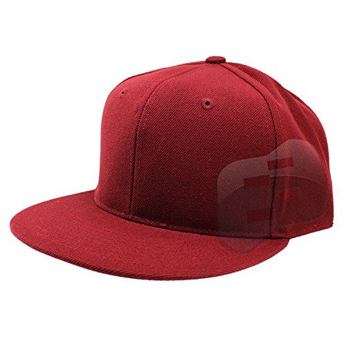 7d88cba5ba48d Enimay Baseball Hats Caps Flat Bill Solid Color No Logo (MANY COLORS SIZES  AVAILABLE)