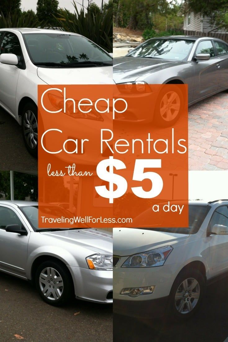 How To Get Cheap Car Rentals For 5 A Day Cheap Car Rental Car